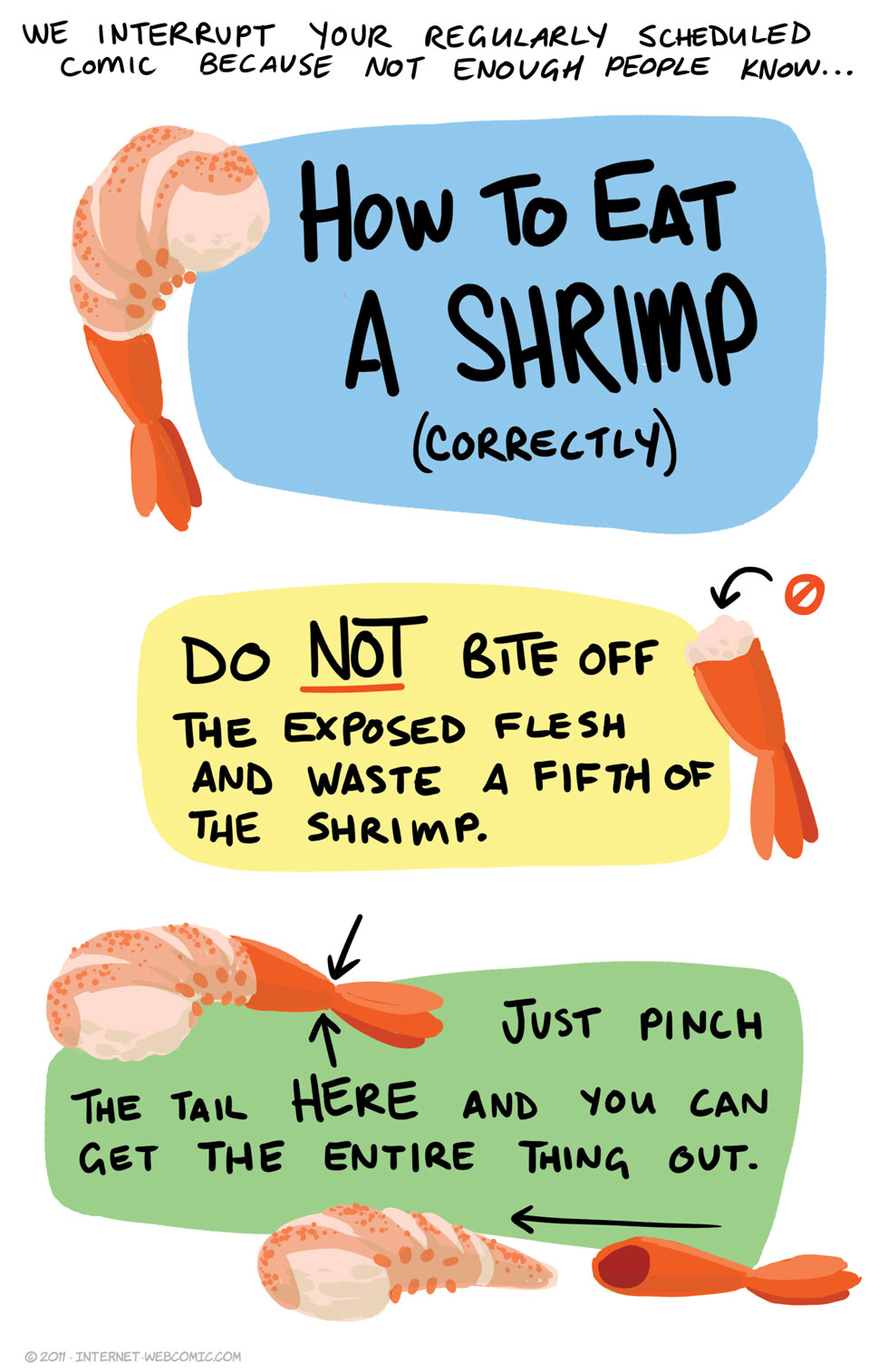 How To Eat A Shrimp